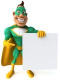 Green Superhero Royalty Free Stock Photos