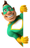 Green Superhero Royalty Free Stock Image