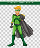 Green Superhero Royalty Free Stock Photography