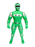 Green superhero isolated Stock Images