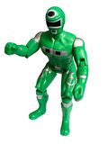 Green superhero isolated. Green superhero toy, isolated, with clipping path for photoshop, with path, for designer Stock Images