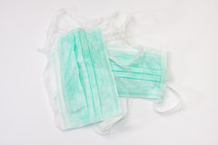 Green surgical mask Royalty Free Stock Photos