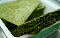 Green sushi nori sheets Stock Images