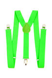 Green suspenders Stock Photography