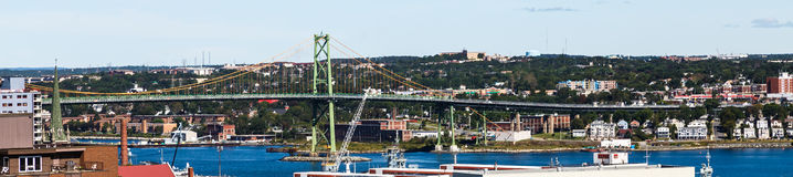 Green Suspension Bridge in Halifax Stock Image