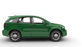 Green SUV - Side View Royalty Free Stock Photo