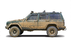 Mud-splattered SUV Stock Images