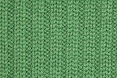 Green sweater fabric Stock Photos