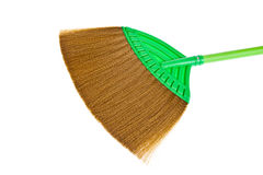 Green sweep broom Stock Photos