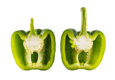 Green Sweet bell pepper (capsicum) royalty free stock image