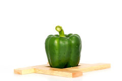 Green Sweet bell pepper (capsicum) isolated on white Royalty Free Stock Photography