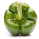 Green sweet bell pepper isolated on white background cutout Royalty Free Stock Photo