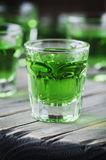 Green sweet cocktai with terragonl Stock Images