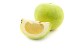 Green sweet grapefruits called sweetie Royalty Free Stock Photo