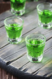 Green sweet healthy cocktai with terragonl Royalty Free Stock Image