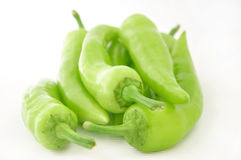 Green sweet peppers Royalty Free Stock Images