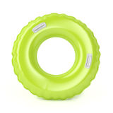 Green swim ring. With handles on white background Stock Image