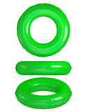 Green Swim Rings. Rubber swim rings isolated on white background. Clipping path stock images