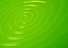 Green swirl. Pattern on a ceramic plate Stock Photos