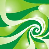 Green swirl. An artistic green and white swirl Stock Image