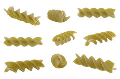 Green swirl dry pasta Stock Images