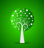 Green swirl tree Royalty Free Stock Photos