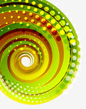 Green swirl vector abstract background Stock Images