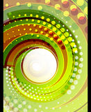 Green swirl vector abstract background Royalty Free Stock Photos