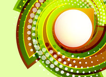 Green swirl vector abstract background Royalty Free Stock Photo