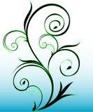Green swirls. Illustration of a green swirly background royalty free illustration