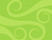 Green Swirls. Background, spring colors Royalty Free Stock Image