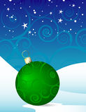Green Swirly Christmas Ornament Stock Photos