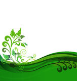 Green floral background design vector illustration