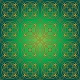 Green Swirly Whirly Seamless Tile Stock Photos