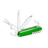 Green swiss knife Stock Photo