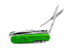 Green Swiss Penknife Royalty Free Stock Image
