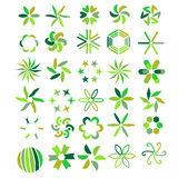 Green symbol collection Royalty Free Stock Photos