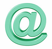 Green symbol e-mail, Stock Image