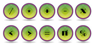 Green symbol icons Stock Photography