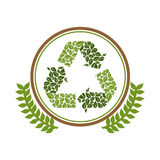 Green symbol recycle reuse reduce. Icon, illustration stock illustration