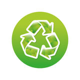 Green symbol recycle reuse reduce. Icon image design royalty free illustration
