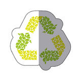 Green symbol reuse, reduce and recycle icon. Illustraction design vector illustration