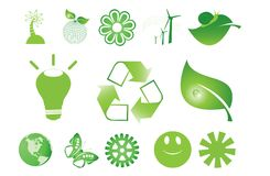 Green symbols Royalty Free Stock Image