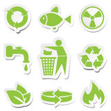 Green Symbols Set Stock Image