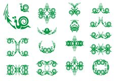 Green symbols of a snail with an arrow. Slow business growth financial symbols as a snail with an arrow for the concept of sluggish profit gains or the economy Stock Image