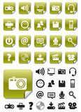 green symbolsmedeletiketter Fotografering för Bildbyråer