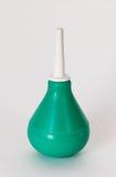 Green syringe on white Stock Image