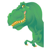 Green T rex bust Stock Photography