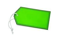Green tab hanger Stock Photos