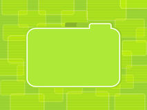Green tabbed label background Royalty Free Stock Photo